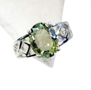 Buy Riyo Green Amethyst India Ecclesiastical Ring Sz 7 Srgam7-28046 online