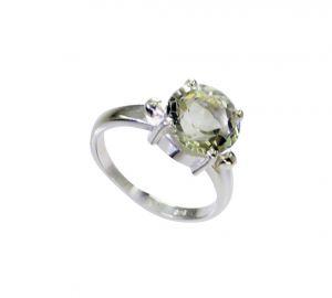 Buy Riyo Green Amethyst Silver Jewelry Wire Braided Silver Ring Sz 7 Srgam7-28070 online