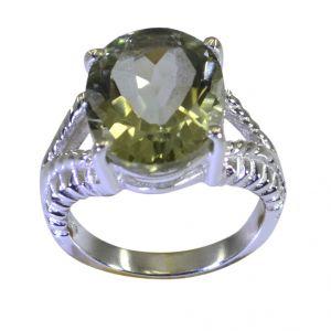 Buy Riyo A Green Amethyst 925 Solid Sterling Silver Preppy Ring Srgam70-28085 online