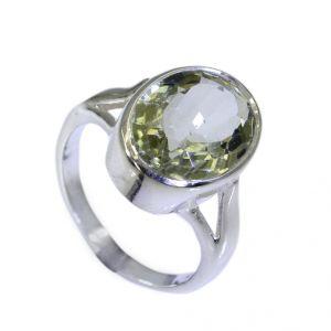 Buy Riyo A Green Amethyst 925 Solid Sterling Silver Professional Ring Srgam70-28088 online