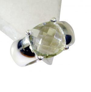 Buy Riyo Green Amethyst Silver Jewelry Shops Signet Ring Jewelry Sz 8 Srgam8-28056 online
