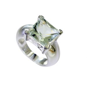Buy Riyo Green Amethyst Silver Jewelry Wholesalers Big Silver Ring Sz 8 Srgam8-28069 online