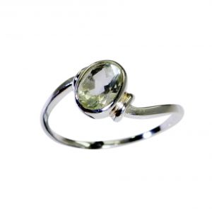 Buy Riyo A Green Amethyst 925 Solid Sterling Silver Rough Cut Ring Srgam80-28090 online