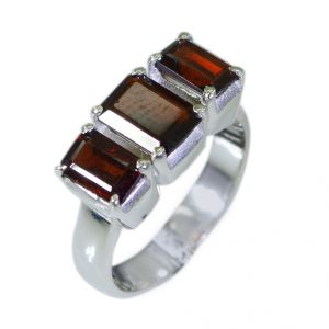 Buy Riyo Garnet Silver Lady Jewelry Handmade Silver Ring Sz 5 Srgar5-26002 online