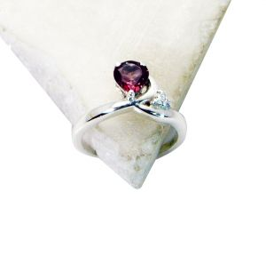 Buy Riyo Red Garnet 925 Solid Sterling Silver Round Cut Ring Srgar50-26264 online