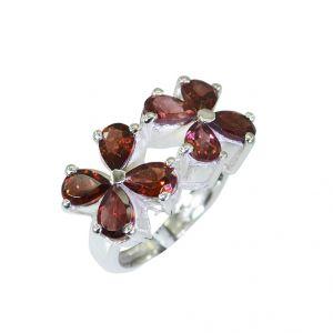 Buy Riyo Garnet Silver Stamped Jewellery Silver Engagement Ring Sz 5.5 Srgar5.5-26016 online