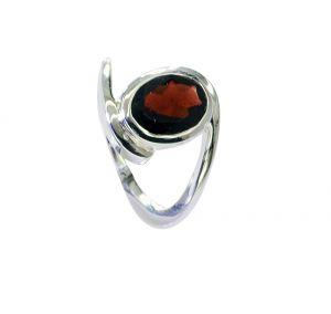 Buy Riyo Garnet High Quality Silver Jewelry Silver Spiral Ring Sz 5.5 Srgar5.5-26218 online