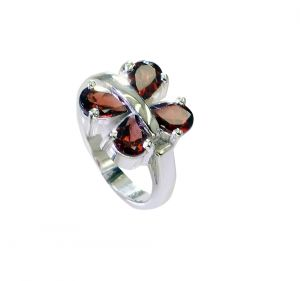 Buy Riyo Garnet Inexpensive Silver Jewelry Small Silver Ring Sz 5.5 Srgar5.5-26228 online