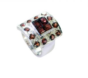 Buy Riyo Garnet Luxury Silver Jewellery Classic Day Rings Sz 5.5 Srgar5.5-26242 online