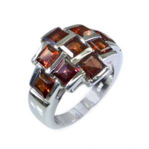 Buy Riyo Garnet Silver Wholesale Jewellery Silver Promise Ring Sz 6 Srgar6-26027 online