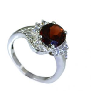 Buy Riyo Garnet Silver Works Jewelry Silver Ring 925 Sz 6 Srgar6-26029 online