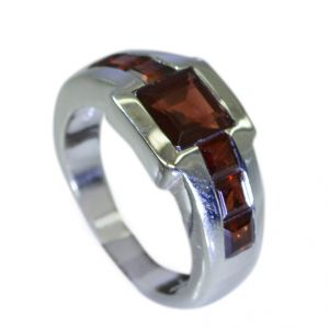 Buy Riyo Garnet Solid Silver Jewelry Silver Ring Designs For Women Sz 6 Srgar6-26034 online