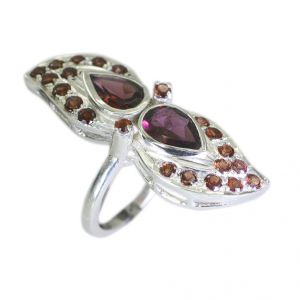 Buy Riyo Garnet Stirling Silver Jewellery Silver Ring Setting Sz 6.5 Srgar6.5-26041 online