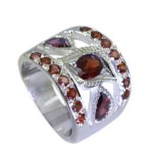 Buy Riyo Garnet Stunning Silver Jewellery Silver Ring Settings Sz 6.5 Srgar6.5-26042 online