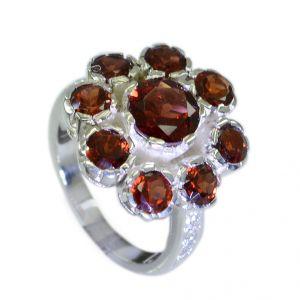 Buy Riyo Garnet Stylish Silver Jewellery Silver Ring Settings Without Stones Sz 6.5 Srgar6.5-26043 online