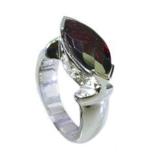 Buy Riyo Garnet Trendy Silver Jewellery Silver Ring Women Sz 6.5 Srgar6.5-26045 online
