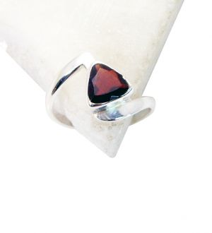 Buy Riyo Garnet Art Deco Silver Jewellery Unique Ring Jewelry Sz 6.5 Srgar6.5-26106 online