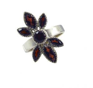 Buy Riyo Red Garnet 925 Solid Sterling Silver Semi Translucent Ring Srgar65-26252 online