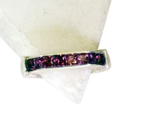 Buy Riyo Garnet Dark Silver Jewelry Big Silver Ring Sz 7 Srgar7-26161 online