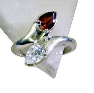 Buy Riyo Garnet Designer Silver Jewellery Buy Silver Ring Sz 7 Srgar7-26164 online