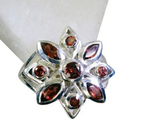 Buy Riyo Garnet Discount Silver Jewelry Contemporary Silver Ring Sz 7 Srgar7-26167 online