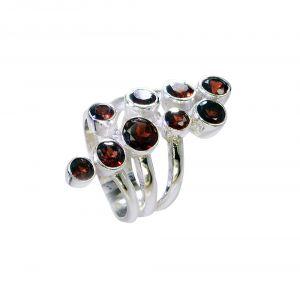 Buy Riyo Garnet Handmade Silver Jewellery Silver Ring Settings Sz 7 Srgar7-26213 online