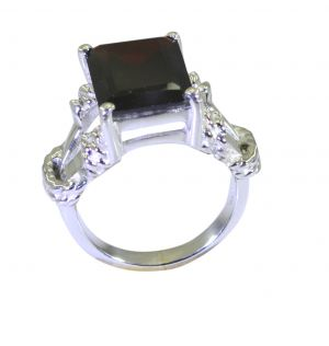 Buy Riyo Red Garnet 925 Solid Sterling Silver Shimmering Ring Srgar70-26254 online