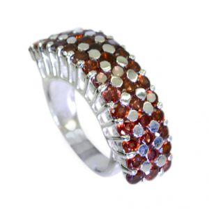 Buy Riyo Garnet 92.5 Solid Silver Wedding Bands Jewelry Sz 7.5 Srgar7.5-26089 online