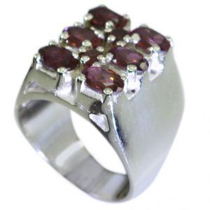 Buy Riyo Garnet 92.5 Solid Sterling Silver Cameo Ring Jewellery Sz 7.5 Srgar7.5-26093 online