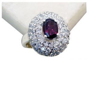 Buy Riyo Garnet Ethnic Silver Jewellery Handmade Silver Ring Sz 8 Srgar8-26174 online