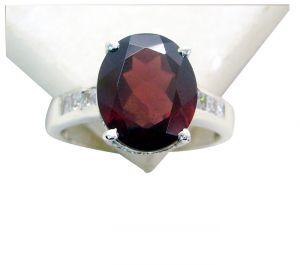 Buy Riyo Garnet Ethnic Silver Jewelry Heavy Silver Ring Sz 8 Srgar8-26175 online