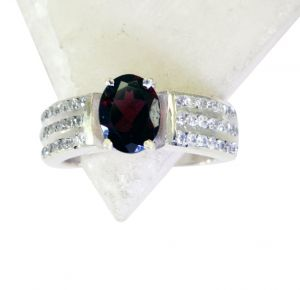 Buy Riyo Garnet Fair Trade Silver Jewelry Oxidized Silver Ring Sz 8 Srgar8-26180 online