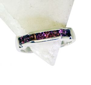 Buy Riyo Garnet Fashion Silver Jewelry Wholesale Silver Band Ring Sz 8 Srgar8-26185 online