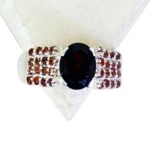 Buy Riyo Garnet Essential Silver Jewellery Designer Silver Ring Sz 8.5 Srgar8.5-26171 online