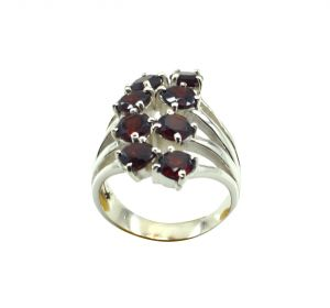 Buy Riyo Red Garnet 925 Solid Sterling Silver Sophisticated Ring Srgar90-26253 online