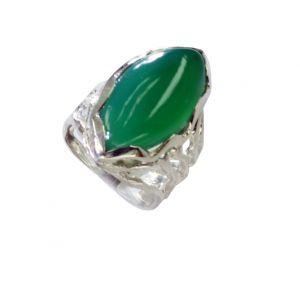 Buy Riyo Green Onyx One Of A Kind Silver Jewelry Friendship Ring Sz 6 Srgon6-30004 online