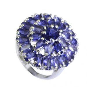 Buy Riyo Iolite Plain Silver Jewellery Cocktail Ring Sz 6 Sriol6-38012 online