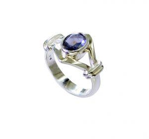 Buy Riyo Iolite Silver Antique Jewellery Ecclesiastical Ring Sz 6 Sriol6-38032 online