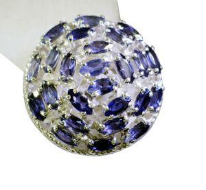 Buy Riyo Iolite Semi Precious Silver Modern Ring Sz 6.5 Sriol6.5-38024 online