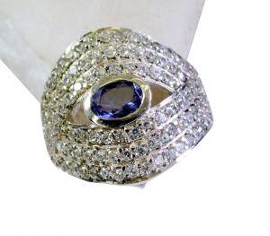 Buy Riyo Iolite Silver Gemstone Jewelry Designer Ring Sz 7 Sriol7-38027 online