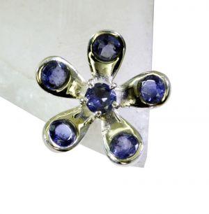 Buy Riyo Iolite Silver And Stone Jewelry Claddagh Ring Sz 8 Sriol8-38030 online