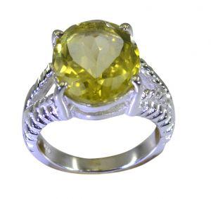 Buy Riyo A Lemon Quartz 925 Solid Sterling Silver Tapered Ring Srlqu60-46032 online