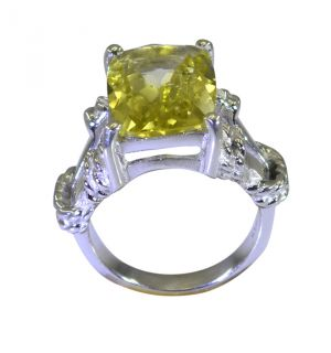 Buy Riyo A Lemon Quartz 925 Solid Sterling Silver Teardrop Ring Srlqu60-46033 online