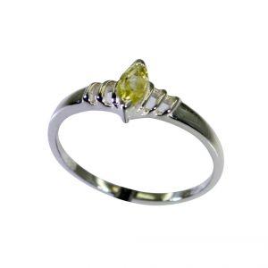 Buy Riyo Lemon Quartz Silver Cz Jewellery Purity Ring Jewelry Sz 7 Srlqu7-46020 online