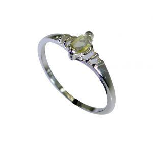 Buy Riyo Lemon Quartz Silver Cz Jewelry Bridal Rings Sz 7 Srlqu7-46021 online