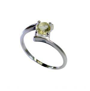 Buy Riyo Lemon Quartz Silver Designer Jewelry Ring Sz 7 Srlqu7-46024 online