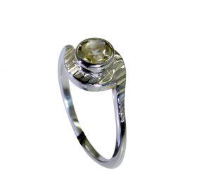 Buy Riyo Lemon Quartz Silver Designer Mori Ring Sz 8 Srlqu8-46023 online