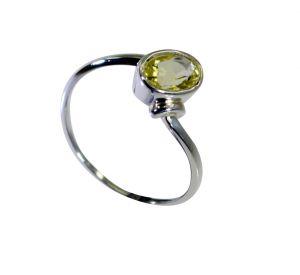 Buy Riyo Lemon Quartz Silver Direct Jewellery Mourning Ring Sz 8 Srlqu8-46025 online