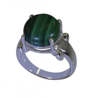 Buy Riyo Green Malachite 925 Solid Sterling Silver Versatile Ring Srmal65-48002 online