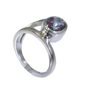 Buy Riyo Mystic Quartz Silver Forest Jewelry Cheap Silver Ring Sz 6.5 Srmqu6.5-54006 online